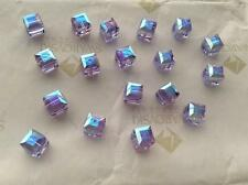 Swarovski #5601 Crystal Alexandrite AB Cube Faceted Beads 4mm 6mm