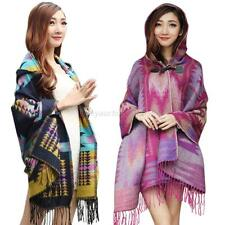 Fashion Loose Lady Cape Wool Poncho Jacket Winter Warm Cloak Coat Outwear Hot