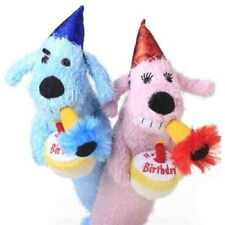 "MULTIPET BIRTHDAY LOOFA 12"" DOG TOY B-DAY PLUSH CAKE FREE SHIPPING TO USA"