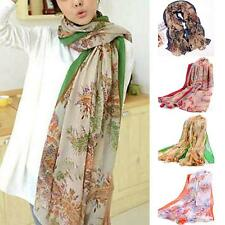 Autumn Women Soft Shawl Wrap Long Retro Paisley Printed Scarf Printed Florals