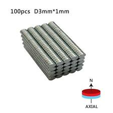 100-200Pcs Strong Round Disc 3mmx1mm Magnets Rare-Earth Neodymium Magnets N50