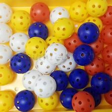 Wholesale 50mm Golf Balls with Hole Practice Sports Training Ball Whiffle Hollow