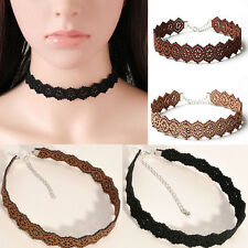 Chunky Choker Flower Chain Women Statement Bib Pendant Chain Necklace Jewelry CH