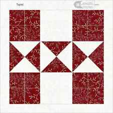 """Cheater Quilt Blocks Fabric Reproductions handmade by Fabric Fotos 6""""x 6"""" cotton"""