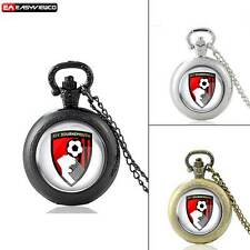 Retro 3D Quartz Pendant Vintage Bournemouth Pocket Chain Watch New Necklace Gift
