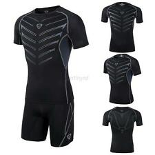 Mens Compression Base Layer Tight Shirt Under Skin Short Sleeve Sports Tank Tops
