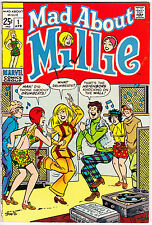 Mad About Millie the Model 1 Bombshell Romance comic Love Marvel 1969 in FN (6.0