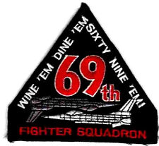 NTM NATO TIGER MEET SQN PATCH COLLECTIONS: USAF 69th FS SIXTY NINE THEM