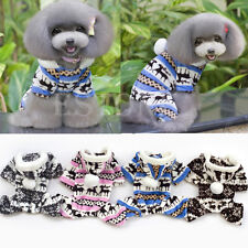Dog Pet Warm Soft Puppy Snowflake Deer Hoodie Jumpsuit Coat Doggy Outfit Clothes