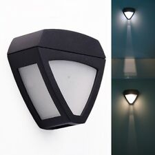 New Solar Power Outdoor Garden Light Gutter Fence Wall Roof Yard LED Lamp