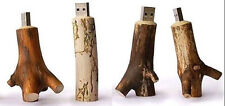 Full Capacity USB 2.0 Flash Pen Drive Thumb stick Memory Real Wood U203