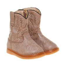 Boy's Leather  Toddler Light Brown Cowboy Squeaky Boots