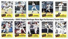 2005 Topps Heritage New Age Performers Baseball Team Sets ** Pick your Team **