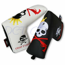 King Skull Golf Putter Cover Blade Headcover CRAFTSMAN GOLF For PXG Ping Adams