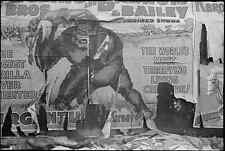 Photo 1938 Circus poster, Omaha, Nebraska Bailey shows gorilla monster U.S.