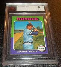 1975 Topps Mini George Brett #228 BVG Graded 6 Rookie RC Baseball Card