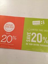 ~* Gymboree & Crazy 8  20% off entire purchase Coupon *~ Expires 1/3/17