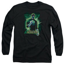 Justice League Green Lantern Brooding Mens Long Sleeve Shirt Black