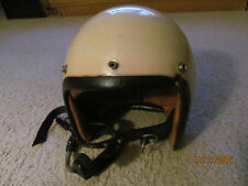 Vintage AGV  motorcycle helmet open face white chopper scooter bobber