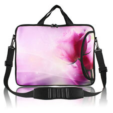 "13"" 15"" 17"" Pink Floral Print Computer Laptop Handle Bag Sleeve Pouch Case Cover"
