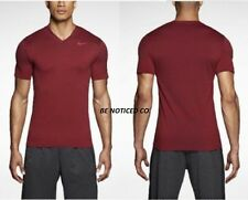 Nike Ultimate Dry V-Neck Men's Training Shirt XL 2XL Red Gym Casaul New