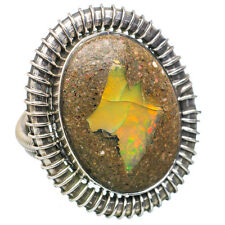 Large Septarian Geode 925 Sterling Silver Ring Size 7.5 Ana Co Jewelry R734997F