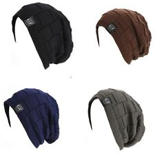 New occident Unisex Women Men Beanie Hat Ribbed Grid Outdoor Knit Hat Fashion