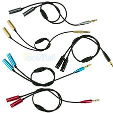 3.5mm 1 Male to 2 Female Earphone Headphone Audio Extension Y Splitter Cable