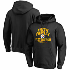 NFL Pro Line Pittsburgh Steelers Black Faith Family Pullover Hoodie - NFL