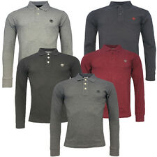 Timberland Earthkeepers Long Sleeve Mens Casual Pique JM Polo Shirt R9