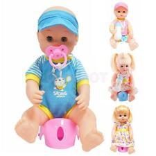 Realistic Vinyl Baby Boy/Girl With Drink Potty Training Accessories Toy Set Gift