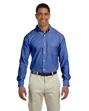 Chestnut Hill Oxford Shirt Mens Long Sleeve Performance Plus Oxford Casual CH580