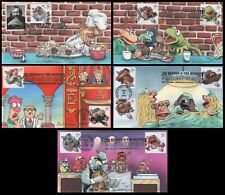 Peterman H/P Jim Henson & Muppets, Set of 5 First Day Covers