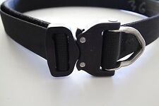 Hank's Surplus Tactical D-Ring Cobra Buckle Gun Pistol EDC Riggers Belt 1.5""