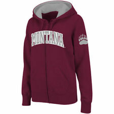 Stadium Athletic Montana Grizzlies Women's Maroon Arched Name Full-Zip Hoodie