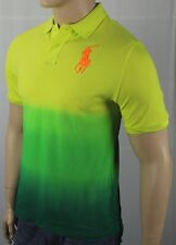 Polo Ralph Lauren Yellow Green Tie Dye Orange Big Pony Shirt NWT