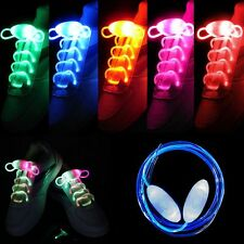 LED Flashing Shoelaces Glow Light Up Stick Strap Shoe Laces Disco Party Dance