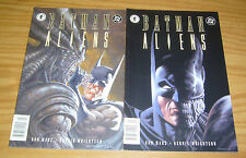 Batman/Aliens #1-2 VF/NM complete series - bernie wrightson - newsstand variants