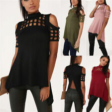 Fashion Women Sexy Off Shoulder Short Sleeve Casual Tops T- Shirt Blouse Shirt