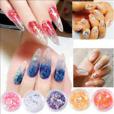 1 Box Muilt-color Nail Sequins Candy Glass Paper Glitter Manicure Decoration