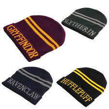 Harry Potter Knit Hat Cap Beanie Gift Hogwarts Four Gryffindor Slytherin Cosplay