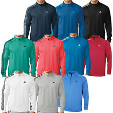 Adidas Golf 2016 Mens 3-Stripes 1/4 Zip LC Logo Pullover Warm Layering Top