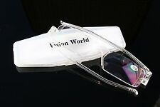 Compact Thin Folding Reading Glasses with Case - Clear Readers