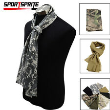 Military Style Camo Mesh Neck Scarf Scrim Net Sniper Face Veil Airsoft Army -New