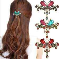 Vintage Women Turquoise Crystal Butterfly Flower Hairpin Hair Barrettes Clips FT