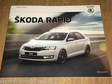 SKODA -  The Rapid Sales Brochure  7/2016