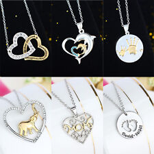 Fashion Creative Design Family Friend Love Pendant Necklace Chain Girl Boy Gift
