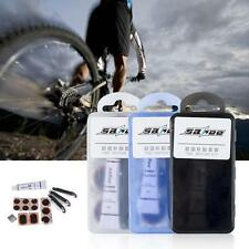 BIKE TYRE TUBE BICYCLE PUNCTURE REPAIR TOOL KIT CYCLE GLUELESS PATCHES B0P0
