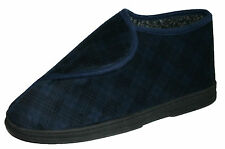 Men's Dunlop EEE Wide Fit Velcro Fastening Boot Slippers Sizes 6-11
