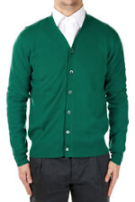 CRUCIANI Man Green Cashmere Cardigan New with Tags and Original Made in Italy